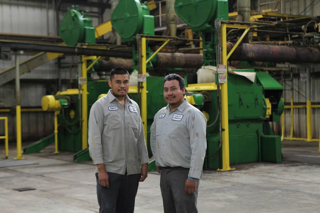 Plant workers at the Caloy facility in Denair, CA
